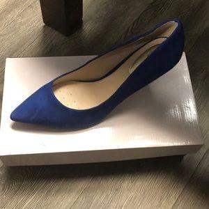 Electric blue heels